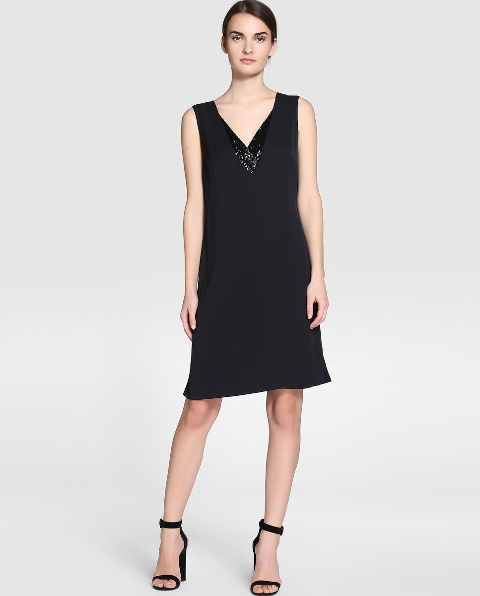 El Corte Inglés - Vestido negro con detalles de lentejuelas Zendra
