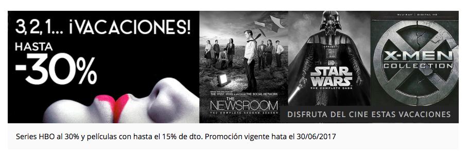 El Corte Inglés Series HBO con 30% descuento